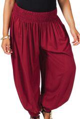 Pantalon femme grande taille type Aladin Edena Bordeaux 283788