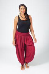 Pantalon femme grande taille type Aladin Edena Bordeaux 317368