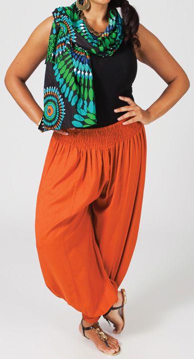 Pantalon Femme Grande taille type Aladin Edena Rouille 274804