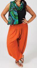 Pantalon femme grande taille type Aladin Edene Rouille 274804