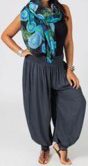 Pantalon Femme Gris Grande taille type Aladin Edena 274806