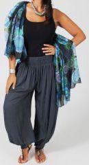 Pantalon Femme Gris Grande taille type Aladin Edena 274807