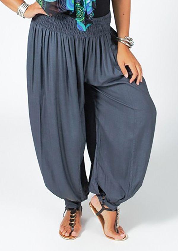 Pantalon Femme Gris Grande taille type Aladin Edena 317369