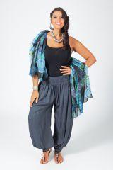 Pantalon Femme Gris Grande taille type Aladin Edena 317370
