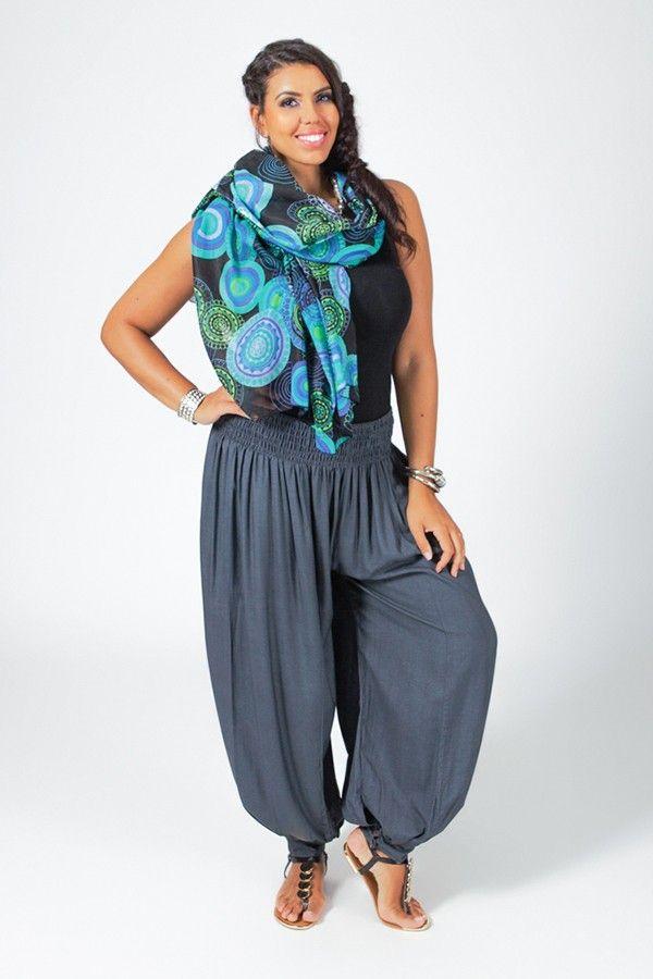 Pantalon Femme Gris Grande taille type Aladin Edena 317371