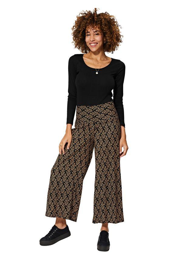 Pantalon femme imprimé ethnique boho fluide Vanessa