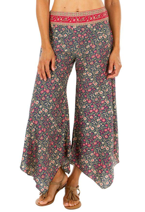 Pantalon femme imprimé fleuri dans les tons pastel Nadia 311682