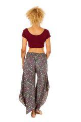 Pantalon femme imprimé fleuri dans les tons pastel Nadia 311684