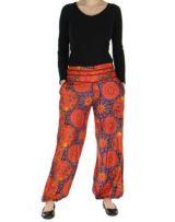 Pantalon femme imprimé orangé Licia 268503