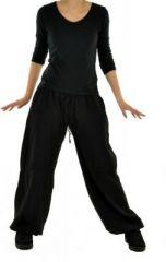 Pantalon femme large babohs noir 245232