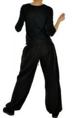 Pantalon femme large babohs noir 255265