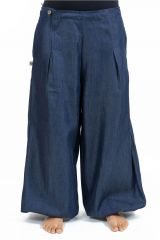 Pantalon femme large en jean look baggy original Kelia 305530