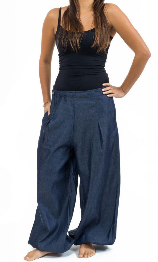 Pantalon femme large en jean look baggy original Kelia 305531