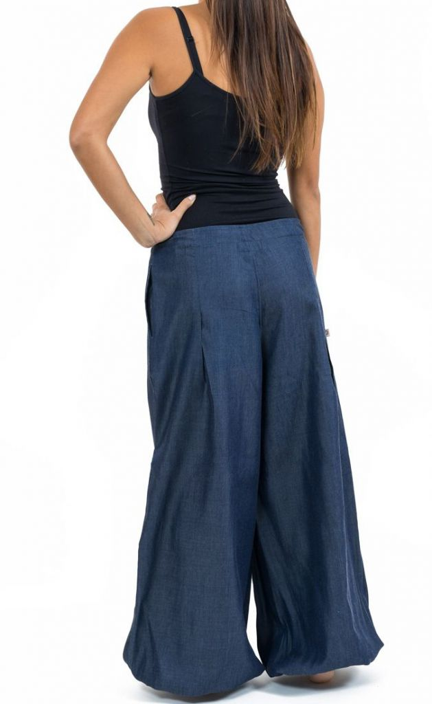 Pantalon femme large en jean look baggy original Kelia 305532