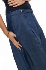 Pantalon femme large en jean look baggy original Kelia 305533