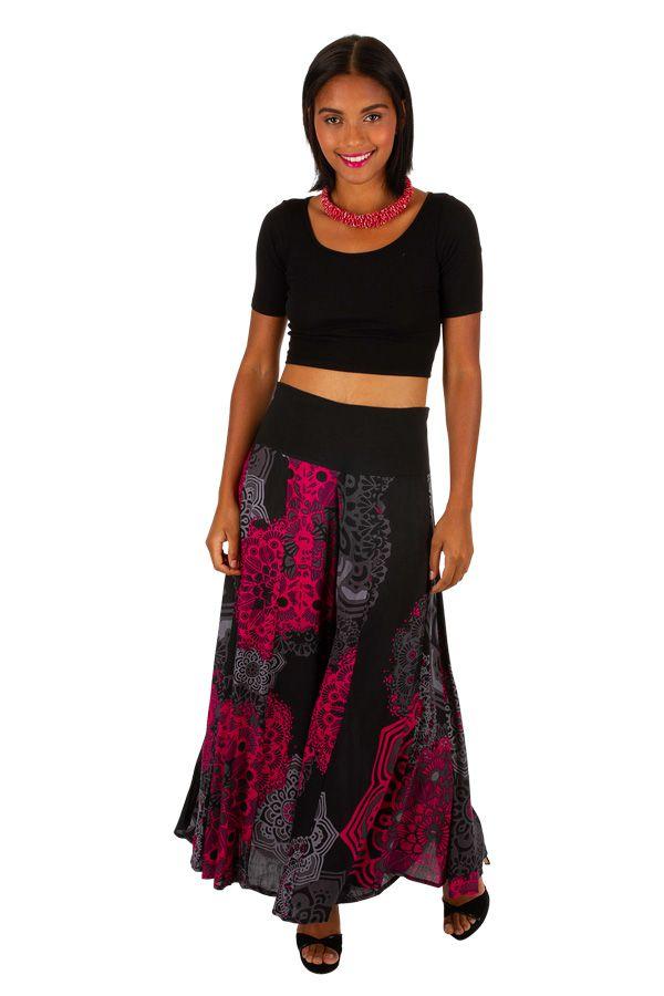 Pantalon femme large et ample effet jupe longue Carline