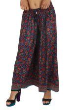 Pantalon femme large et fleuri style bohème chic Johnon