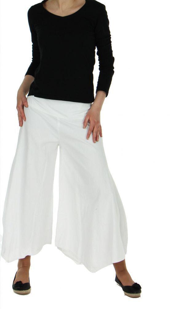 Pantalon femme large et original pike blanc 245530