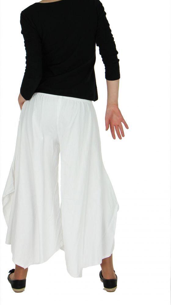 Pantalon femme large et original pike blanc 255493