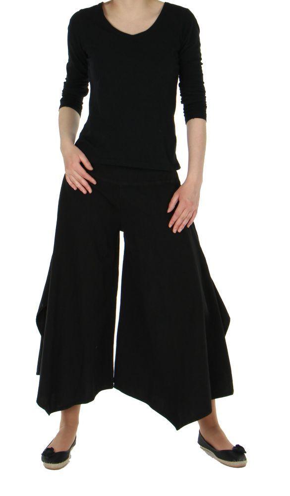 Pantalon femme large et original pike noir 245524