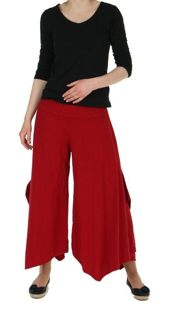 Pantalon femme large et original pike rouge 245525