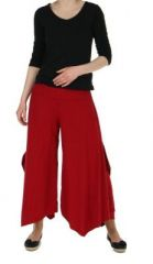 Pantalon femme large et original pike rouge 245525
