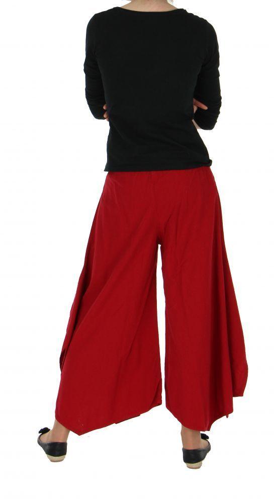 Pantalon femme large et original pike rouge 255488