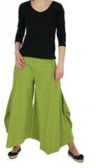 Pantalon femme large et original pike vert anis 245526