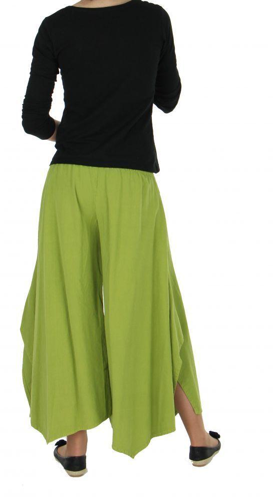 Pantalon femme large et original pike vert anis 255489