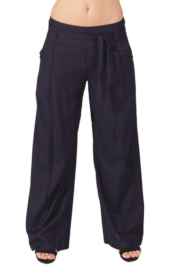 Pantalon femme large Ethnique et Agréable Glenn Bleu marine 282270