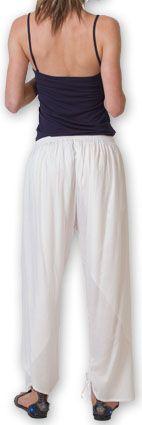 Pantalon femme large ethnique et original Blanc Viet 273636