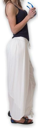 Pantalon femme large ethnique et original Blanc Viet 273637