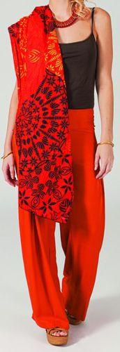 Pantalon femme large Ethnique et Original Giovan Rouille 274671
