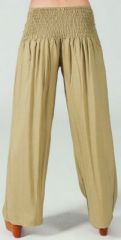 Pantalon femme large Ethnique et Original Giovan Sable 274676
