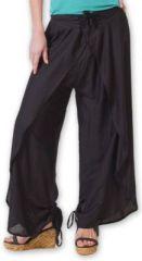 Pantalon femme large ethnique et original Noir Viet 273631