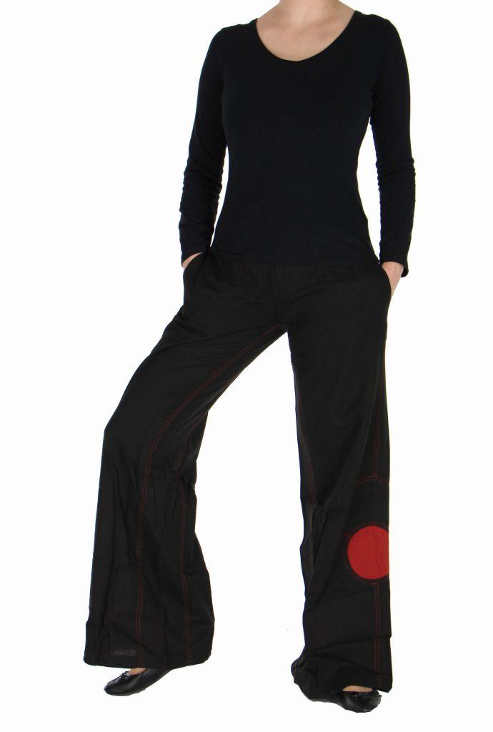 Pantalon femme large noir Happy 266998