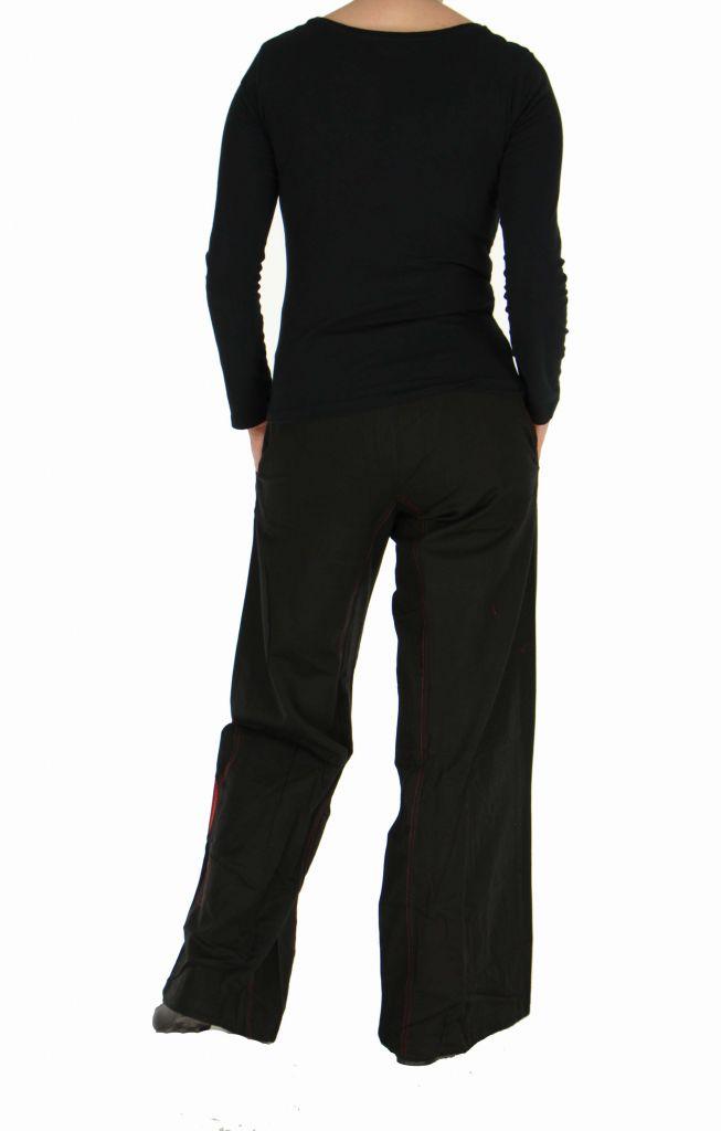 Pantalon femme large noir Happy 266999