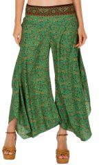 Pantalon femme look bohème patte d'éléphant Maxine 309711