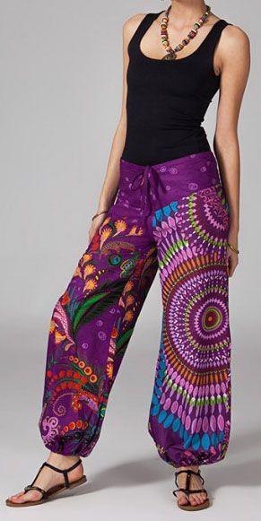 Pantalon femme pas cher ethnique Aurélien