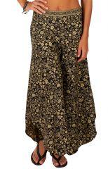 Pantalon femme patte d'eph fleuri look bohème Mina 309708
