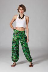 Pantalon Femme pour l\'été style ethnique en coton Fanny