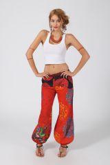 Pantalon Femme pour l\'été taille élastiquée en coton Laury