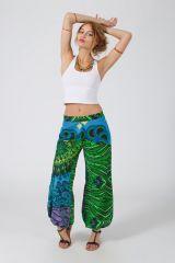 Pantalon Femme pour l\'été taille elastiquée en coton léger Lina