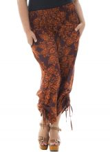 Pantalon femme ronde coupe bouffante avec motifs mandalas Lapy 291925