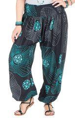 Pantalon femme ronde coupe large et imprimé bleuté Galla 295169