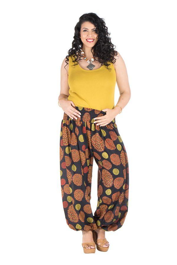pantalon femme ronde imprim seventies galla. Black Bedroom Furniture Sets. Home Design Ideas