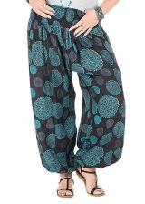 Pantalon femme ronde look seventies bleu Galla 295193