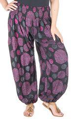 Pantalon femme ronde look vintage et imprimé Galla 295185