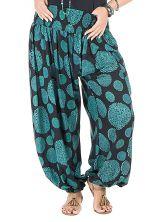 Pantalon femme ronde style vintage et imprimé bleu Galla 295201