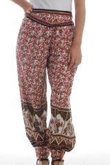 Pantalon femme Rouge fabriqué en Inde Original et Léger Chalima 297754